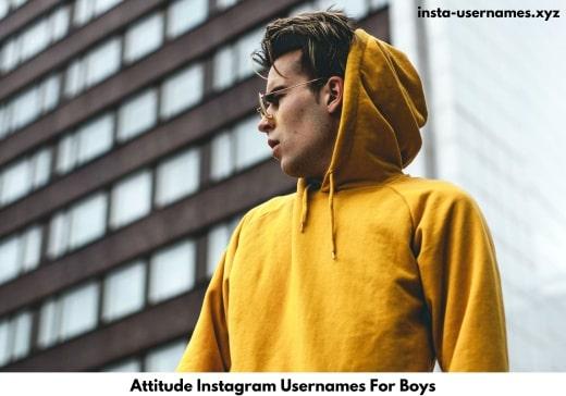Attitude Instagram Usernames For Boys