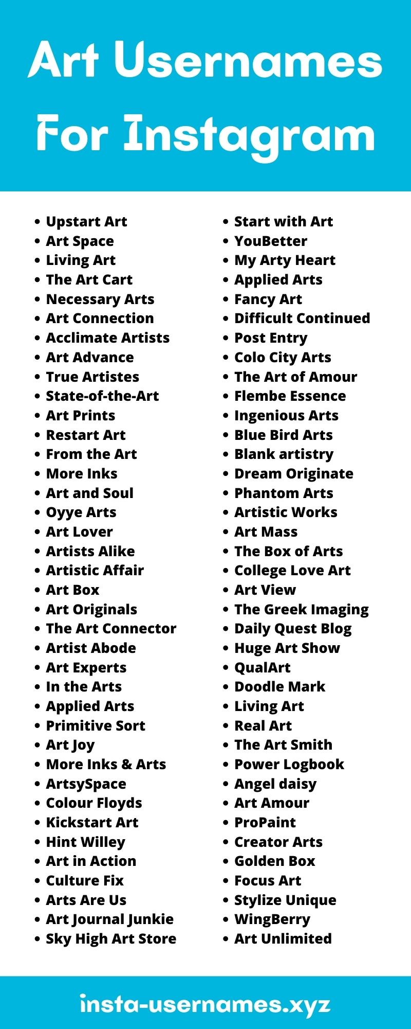 Art Usernames For Instagram